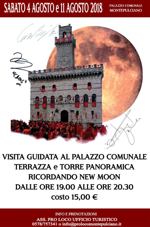 Visita Guidata in Torre e Aperitivo a tema New Moon