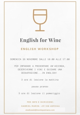English for Wine - English Workshop - Domenica 21  ...