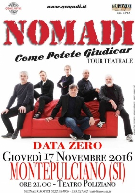 I NOMADI A MONTEPULCIANO - GIOVEDÌ 17 NOVEMBRE 20 ...