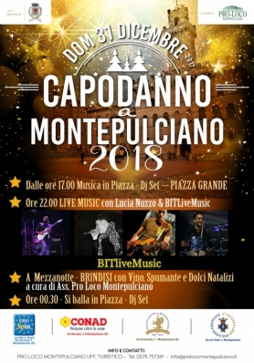 San Silvestro 2017 a Montepulciano