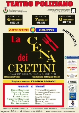 La Cena dei Cretini con Arteatro Gruppo al Poliziano 6-8 gennaio