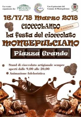 CIOCCOLANDO 2018 – III EDIZIONE della Fiera del Cioccolato a Montepulciano