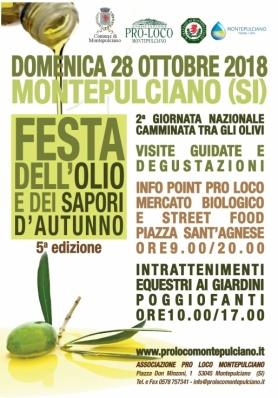 5° Festa dell'Olio e dei Sapori d'Autunno - Domenica 28 Ottobre 2018
