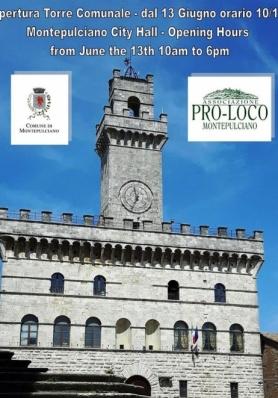 Da Sabato 13 Giugno riapre ai visitatori la Torre Comunale di Montepulciano