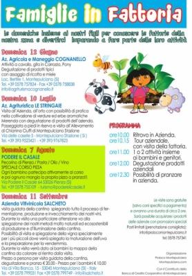 FAMIGLIE IN FATTORIA 2016 - Domenica 7 Agosto dalle ore 10.00 - Podere Il Casale (Pienza) ...