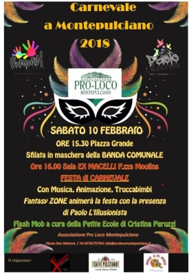 Carnevale a Montepulciano 2018