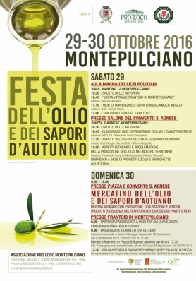 FESTA DELL'OLIO E DEI SAPORI D'AUTUNNO 2016