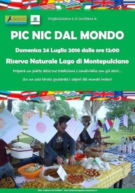 PIC NIC DAL MONDO - Domenica 24 Luglio 2016 - Lago di Montepulciano