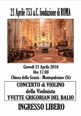 Concerto di Violino - 21 Aprile - 753 a.C. fondazi ...