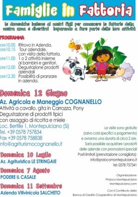 FAMIGLIE IN FATTORIA 2016 - Domenica 12 Giugno - A ...