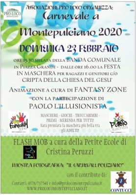 Carnevale a Montepulciano 2020